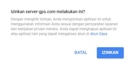 verifikasi server gps